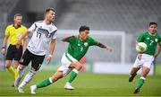 11 September 2018; Reece Grego-Cox of Republic of Ireland in action against Eduard Löwen of Germany during the UEFA European U21 Championship Qualifier Group 5 match between Republic of Ireland and Germany at Tallaght Stadium in Tallaght, Dublin. Photo by Brendan Moran/Sportsfile