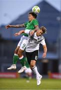11 September 2018; Reece Grego-Cox of Republic of Ireland in action against Waldemar Anton of Germany during the UEFA European U21 Championship Qualifier Group 5 match between Republic of Ireland and Germany at Tallaght Stadium in Tallaght, Dublin. Photo by Brendan Moran/Sportsfile