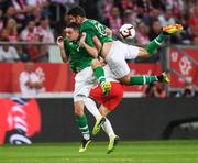 11 September 2018; Shaun Williams, left, and John Egan of Republic of Ireland in action against Arkadiusz Reca of Poland during the International Friendly match between Poland and Republic of Ireland at the Municipal Stadium in Wroclaw, Poland. Photo by Stephen McCarthy/Sportsfile