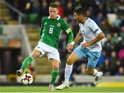 11 September 2018; Steven Davis of Northern Ireland  in action against Eitan Tibi of Israel during the International Friendly match between Northern Ireland and Israel at the National Football Stadium at Windsor Park in Belfast. Photo by Oliver McVeigh/Sportsfile