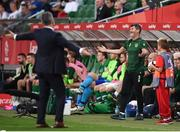11 September 2018; Republic of Ireland assistant manager Roy Keane reacts during the International Friendly match between Poland and Republic of Ireland at the Municipal Stadium in Wroclaw, Poland. Photo by Stephen McCarthy/Sportsfile