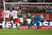 11 September 2018; Mateusz Klich of Poland shoots to score his side's first goal during the International Friendly match between Poland and Republic of Ireland at the Municipal Stadium in Wroclaw, Poland. Photo by Stephen McCarthy/Sportsfile