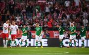 11 September 2018; Republic of Ireland players react after Mateusz Klich of Poland, second from left, scored his side's first goal during the International Friendly match between Poland and Republic of Ireland at the Municipal Stadium in Wroclaw, Poland. Photo by Stephen McCarthy/Sportsfile