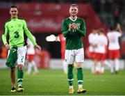11 September 2018; Aiden O'Brien, right, and Shaun Williams of Republic of Ireland following the International Friendly match between Poland and Republic of Ireland at the Municipal Stadium in Wroclaw, Poland. Photo by Stephen McCarthy/Sportsfile
