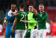 11 September 2018; Aiden O'Brien of Republic of Ireland and his team-mates following the International Friendly match between Poland and Republic of Ireland at the Municipal Stadium in Wroclaw, Poland. Photo by Stephen McCarthy/Sportsfile