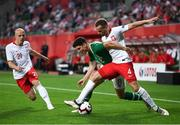 11 September 2018; Callum O'Dowda of Republic of Ireland in action against Tomasz Kedziora, right, and Rafal Kurzawa of Poland during the International Friendly match between Poland and Republic of Ireland at the Municipal Stadium in Wroclaw, Poland. Photo by Stephen McCarthy/Sportsfile