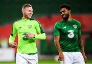 11 September 2018; Aiden O'Brien, left, and Cyrus Christie of Republic of Ireland prior to the International Friendly match between Poland and Republic of Ireland at the Municipal Stadium in Wroclaw, Poland. Photo by Stephen McCarthy/Sportsfile