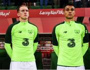 11 September 2018; Ronan Curtis, left, and Graham Burke of Republic of Ireland during the International Friendly match between Poland and Republic of Ireland at the Municipal Stadium in Wroclaw, Poland. Photo by Stephen McCarthy/Sportsfile