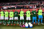 11 September 2018; Republic of Ireland players, from left, Shane Duffy, Ciaran Clark, Matt Doherty, Conor Hourihane, Ronan Curtis, Graham Burke, Sean McDermott and Colin Doyle during the International Friendly match between Poland and Republic of Ireland at the Municipal Stadium in Wroclaw, Poland. Photo by Stephen McCarthy/Sportsfile