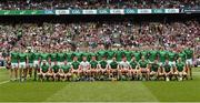 19 August 2018; The Limerick squad before the GAA Hurling All-Ireland Senior Championship Final match between Galway and Limerick at Croke Park in Dublin. Back row; left to right, Kevin Downes, Mike Casey, Aaron Gillane, Séamus Flanagan, Pat Ryan, Colin Ryan, William O'Meara, Barry Nash, Tom Condon, Tom Morrissey, Darragh O'Donovan, William O'Donoghue, Diarmaid Byrnes, Kyle Hayes, Dan Morrissey, Richie McCarthy, David Dempsey, Paddy O'Loughlin, Barry O'Connell, Andrew La Touche Cosgrave, Paul Browne, Gearóid Hegarty, front row; left to right, Cian Lynch, Barry Murphy, Oisín O'Reilly, Peter Casey, Barry Hennessy, David Reidy, Declan Hannon, Richie English, Nickie Quaid, Graeme Mulcahy, Shane Dowling, Seán Finn, Lorcan Lyons, Séamus Hickey. Photo by Piaras Ó Mídheach/Sportsfile