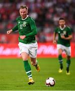 11 September 2018; Aiden O'Brien of Republic of Ireland during the International Friendly match between Poland and Republic of Ireland at the Municipal Stadium in Wroclaw, Poland. Photo by Stephen McCarthy/Sportsfile