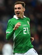 11 September 2018; Gavin Whyte of Northern Ireland during the International Friendly match between Northern Ireland and Israel at the National Football Stadium at Windsor Park in Belfast. Photo by Oliver McVeigh/Sportsfile