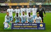 11 September 2018; The Israel team before the International Friendly match between Northern Ireland and Israel at the National Football Stadium at Windsor Park in Belfast. Photo by Oliver McVeigh/Sportsfile