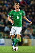 11 September 2018; George Saville of Northern Ireland during the International Friendly match between Northern Ireland and Israel at the National Football Stadium at Windsor Park in Belfast. Photo by Oliver McVeigh/Sportsfile