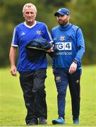 19 August 2018; Tipperary Manager Shane Ronayne, right, along with Tony Smith Mentor during the 2018 TG4 All-Ireland Ladies Senior Football Championship relegation play-off match between Cavan and Galway at Dolan Park in Cavan. Photo by Oliver McVeigh/Sportsfile