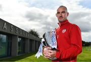 13 September 2018; Gerard Doherty of Derry City poses for a portait during the EA SPORTS Cup Final Media Day at FAI HQ, in Abbotstown, Dublin. Photo by Sam Barnes/Sportsfile