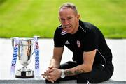 13 September 2018; Derry City manager Kenny Shiels poses for a portrait during the EA SPORTS Cup Final Media Day at FAI HQ, in Abbotstown, Dublin. Photo by Sam Barnes/Sportsfile
