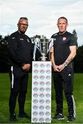 13 September 2018; In attendance during the EA SPORTS Cup Final Media Day are, Cobh Ramblers manager Stephen Henderson, left, and Derry City Manager Kenny Shiels, at FAI HQ, in Abbotstown, Dublin. Photo by Sam Barnes/Sportsfile