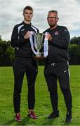 13 September 2018; Cobh Ramblers manager Stephen Henderson, right, and Chris Hull of Cobh Ramblers during the EA SPORTS Cup Final Media Day at FAI HQ, in Abbotstown, Dublin. Photo by Sam Barnes/Sportsfile