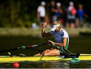 14 September 2018; Sanita Puspure of Ireland celebrates after winning her Women's Single Sculls semi-final on day six of the World Rowing Championships in Plovdiv, Bulgaria. Photo by Seb Daly/Sportsfile