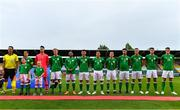 11 September 2018; The Republic of Ireland team line up prior to the UEFA European U21 Championship Qualifier Group 5 match between Republic of Ireland and Germany at Tallaght Stadium in Tallaght, Dublin. Photo by Brendan Moran/Sportsfile