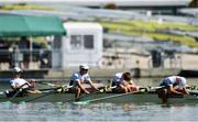 14 September 2018; Ireland team, from left, Fintan McCarthy, Ryan Ballantine, Jacob McCarthy and Andrew Goff following their fifth place finish during their Lightweight Men's Quadruple Sculls final on day six of the World Rowing Championships in Plovdiv, Bulgaria. Photo by Seb Daly/Sportsfile
