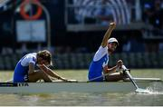 14 September 2018; Alfonso Scalzone, right, and Giuseppe Di Mare of Italy after winning the Lightweight Men's Pair final on day six of the World Rowing Championships in Plovdiv, Bulgaria. Photo by Seb Daly/Sportsfile