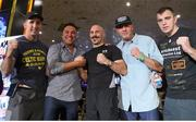14 September 2018; Gary 'Spike' O'Sullivan with trainer Packie Collins, Oscar de le Hoya, and Craig O'Brien ahead of his middlewieght bout against David Lemieux on the Gennady Golovkin and Canelo Álvarez undercard in Las Vegas, Nevada, USA. Photo by Tom Hogan/Golden Boy Promotions via Sportsfile