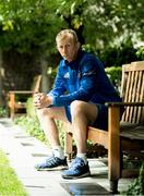 14 September 2018; Head coach Leo Cullen poses for a portrait following a Leinster Rugby Press Conference at the InterContinental Dublin in Ballsbridge, Dublin. Photo by Eóin Noonan/Sportsfile