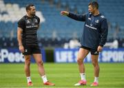 14 September 2018; Dave Kearney, left, with Rob Kearney during the Leinster captains run at the RDS Arena in Dublin. Photo by Eóin Noonan/Sportsfile