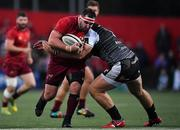 14 September 2018; James Cronin of Munster is tackled by Rhodri Jones of Ospreys during the Guinness PRO14 Round 3 match between Munster and Ospreys at Irish Independent Park in Cork. Photo by Brendan Moran/Sportsfile