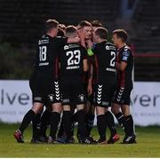 14 September 2018; Bohemians players celebrate after Daniel Kelly scored their second goal during the SSE Airtricity League Premier Division match between Bohemians and Cork City at Dalymount Park in Dublin. Photo by Stephen McCarthy/Sportsfile