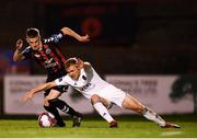 14 September 2018; Conor McCormack of Cork City in action against Paddy Kirk of Bohemians during the SSE Airtricity League Premier Division match between Bohemians and Cork City at Dalymount Park in Dublin. Photo by Stephen McCarthy/Sportsfile