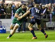 14 September 2018; Peter McCabe of Connacht is tackled by Duhan van der Merwe of Edinburgh during the Guinness PRO14 Round 3 match between Edinburgh Rugby and Connacht at BT Murrayfield Stadium, in Edinburgh, Scotland. Photo by Kenny Smith/Sportsfile
