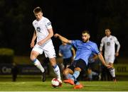 14 September 2018; Conor Davis of UCD in action against Sam Todd of Finn Harps during the SSE Airtricity League First Division match between UCD and Finn Harps at the UCD Bowl in Dublin. Photo by Harry Murphy/Sportsfile