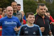 15 September 2018; parkrun Ireland in partnership with Vhi, added their 100th event on Saturday, 15th September, with the introduction of the Tyrrelstown parkrun in Co. Dublin. Pictured is Taoiseach Leo Varadkar, T.D. parkruns take place over a 5km course weekly, are free to enter and are open to all ages and abilities, providing a fun and safe environment to enjoy exercise. To register for a parkrun near you visit www.parkrun.ie. Photo by Piaras Ó Mídheach/Sportsfile