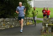 15 September 2018; parkrun Ireland in partnership with Vhi, added their 100th event on Saturday, 15th September, with the introduction of the Tyrrelstown parkrun in Co. Dublin. Pictured is Aidan Mullen, left, from Cabinteely in Dublin. parkruns take place over a 5km course weekly, are free to enter and are open to all ages and abilities, providing a fun and safe environment to enjoy exercise. To register for a parkrun near you visit www.parkrun.ie. Photo by Piaras Ó Mídheach/Sportsfile