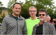 parkrun Ireland in partnership with Vhi, added their 100th event on Saturday, 15th September, with the introduction of the Tyrrelstown parkrun in Co. Dublin. Pictured is Taoiseach Leo Varadkar, T.D. with Padraig Hurley, centre, and Brendan Dollard, from St Andrew's AC, Dublin. parkruns take place over a 5km course weekly, are free to enter and are open to all ages and abilities, providing a fun and safe environment to enjoy exercise. To register for a parkrun near you visit www.parkrun.ie. Photo by Piaras Ó Mídheach/Sportsfile