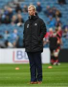 15 September 2018; Leinster head coach Leo Cullen prior to the Guinness PRO14 Round 3 match between Leinster and Dragons at the RDS Arena in Dublin. Photo by David Fitzgerald/Sportsfile