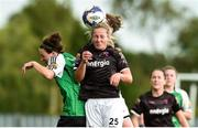 15 September 2018; Katrina Parrock and Edel Kennedy of Wexford Youths in action against Karen Duggan of Peamount United during the Continental Tyres Women's National League Cup Final between Wexford Youths at Peamount United at Ferrcarrig Park in Wexford. Photo by Matt Browne/Sportsfile