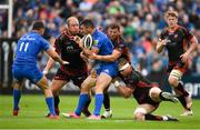 15 September 2018; Rob Kearney of Leinster is tackled by Aaron Wainwright of Dragons during the Guinness PRO14 Round 3 match between Leinster and Dragons at the RDS Arena in Dublin. Photo by David Fitzgerald/Sportsfile