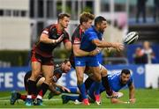 15 September 2018; Rob Kearney of Leinster is tackled by Matthew Screech of Dragons during the Guinness PRO14 Round 3 match between Leinster and Dragons at the RDS Arena in Dublin. Photo by Harry Murphy/Sportsfile