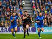 15 September 2018; Josh Lewis of Dragons in action against Jordan Larmour and Seán Cronin of Leinster during the Guinness PRO14 Round 3 match between Leinster and Dragons at the RDS Arena in Dublin. Photo by Harry Murphy/Sportsfile
