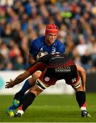 15 September 2018; Josh van der Flier of Leinster is tackled by Cory Hill of Dragons during the Guinness PRO14 Round 3 match between Leinster and Dragons at the RDS Arena in Dublin. Photo by Harry Murphy/Sportsfile