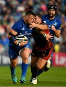 15 September 2018; Andrew Porter of Leinster is tackled by Elliot Dee of Dragons during the Guinness PRO14 Round 3 match between Leinster and Dragons at the RDS Arena in Dublin. Photo by Harry Murphy/Sportsfile