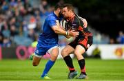 15 September 2018; Adam Warren of Dragons is tackled by Robbie Henshaw of Leinster during the Guinness PRO14 Round 3 match between Leinster and Dragons at the RDS Arena in Dublin. Photo by Harry Murphy/Sportsfile