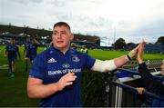 15 September 2018; Tadhg Furlong of Leinster following the Guinness PRO14 Round 3 match between Leinster and Dragons at the RDS Arena in Dublin. Photo by David Fitzgerald/Sportsfile