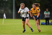 15 September 2018; Aisling McAnespie of Emyvale, Co Monaghan, in action against Eva O'Dea of Banner Ladies, Ennis, Co Clare, in the Senior Championship Final during the 2018 LGFA All-Ireland Club 7s at Naomh Mearnóg & St Sylvesters in Dublin.    Photo by Piaras Ó Mídheach/Sportsfile