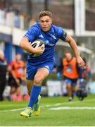 15 September 2018; Jordan Larmour of Leinster in action during the Guinness PRO14 Round 3 match between Leinster and Dragons at the RDS Arena in Dublin. Photo by Harry Murphy/Sportsfile