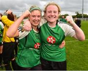15 September 2018; Lauren Kealy and Amber Barrett of Peamount United celebrates after the Continental Tyres Women's National League Cup Final between Wexford Youths at Peamount United at Ferrcarrig Park in Wexford. Photo by Matt Browne/Sportsfile
